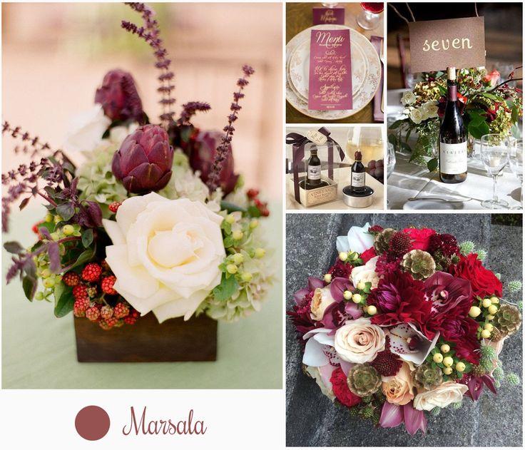 #Marsala será el color del 2015 según #Pantone. Un tono marrón rojizo que evoca la tierra y el vino siciliano, es perfecto para aplicarlo en la decoración de eventos, ya sea en bouquets de novia, mantelería, invitaciones, y un sin fin de elementos.
