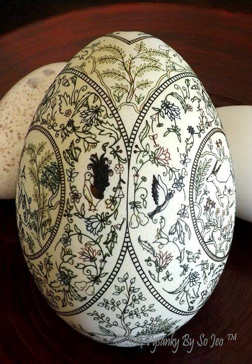 Elysium Ukrainian Style Batik Easter Egg Pysanky by So JeoElysium Ukrainian Style Batik Easter Egg Pysanky by So Jeo