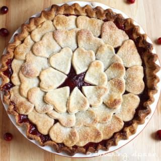 Get the recipe for this cranberry pear pie at Savoring Spoon.