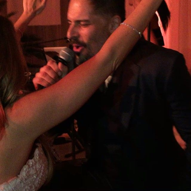 Pin for Later: Sofia Vergara Is Married, and She Stayed True to Her Latina Roots With These Traditions Joe Serenaded His Bride-to-Be the Night Before the Wedding