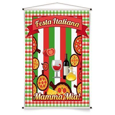 Banner Vertical Festa Italiana - 72x109cm
