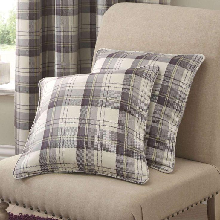 Balmoral Mauve Cushion | Dunelm
