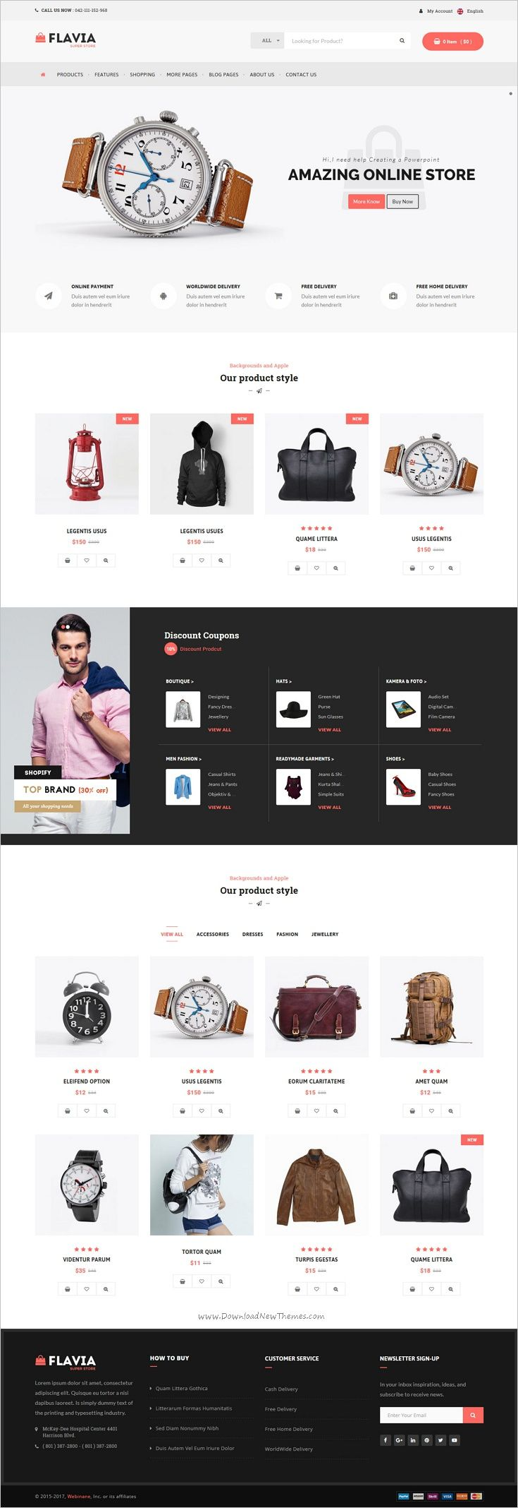 Flavia is a wonderful responsive #WooCommerce #WordPress #theme for multipurpose eCommerce website with 7+ pre-built homepages download now➩ https://themeforest.net/item/flavia-download-responsive-woocommerce-wordpress-theme/18030189?ref=Datasata