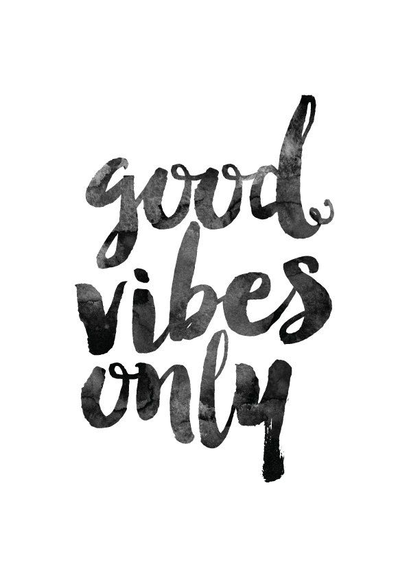 Good Vibes Only Printable poster, inspirational quote, quote wall art…