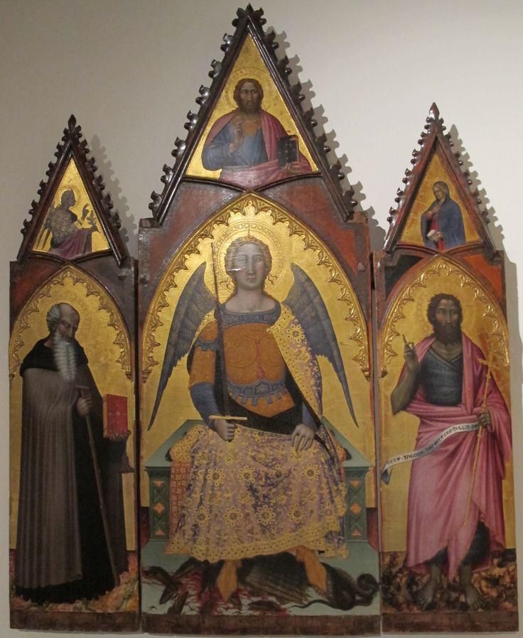 Angelo_puccinelli. Angelo Puccinelli (1380-1407). Святой Михаил на троне со святыми.