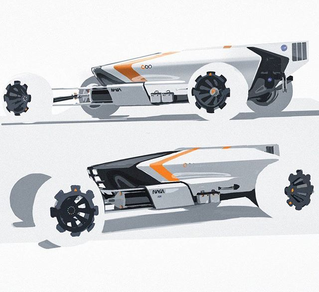 More from my mars rover project! #transportationdesign #carsketch #cardesign #sketch #idsketching #mars #nasa #photoshop
