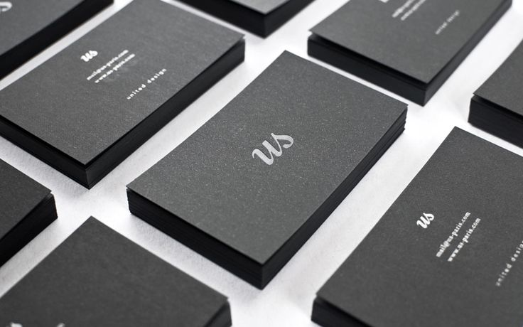 Sweet black business cards