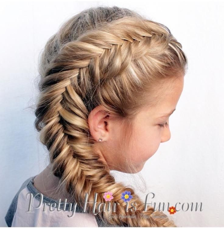 Side Dutch Fishtail Braid tutorial (and some other cool hairstyles for little girls!