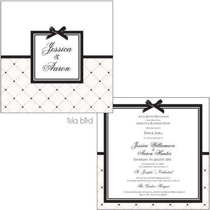 Quilted Chanel Wedding Invitation - Isla Bird Stationery www.islabird.com