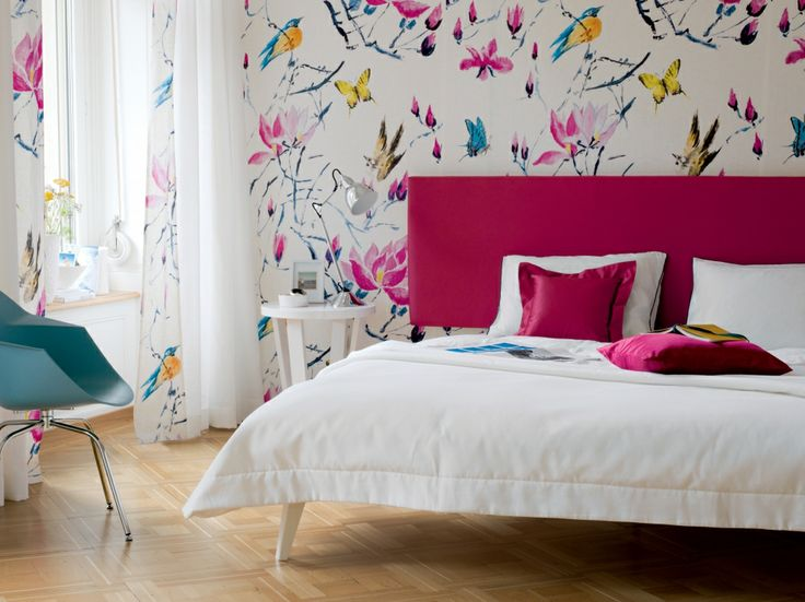 Curtains, walls, headboard and bedlinen made to measure, bedroom ideas, Pfister Vorhang Service
