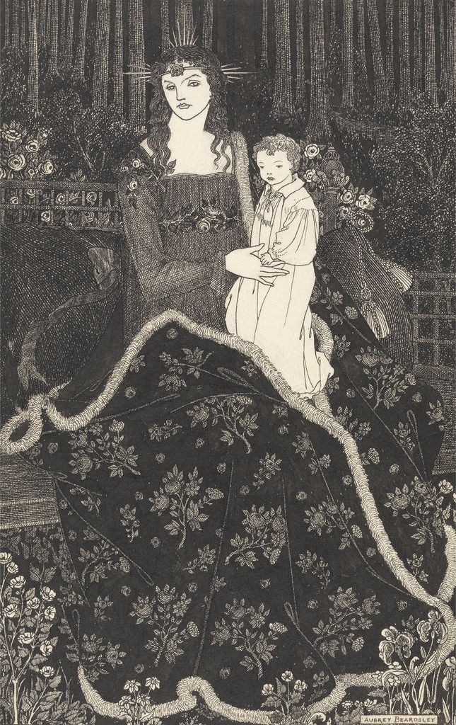 Aubrey Beardsley, 'A Large Christmas Card', 1895.  Pen and ink over pencil.  Yale Center for British Art.