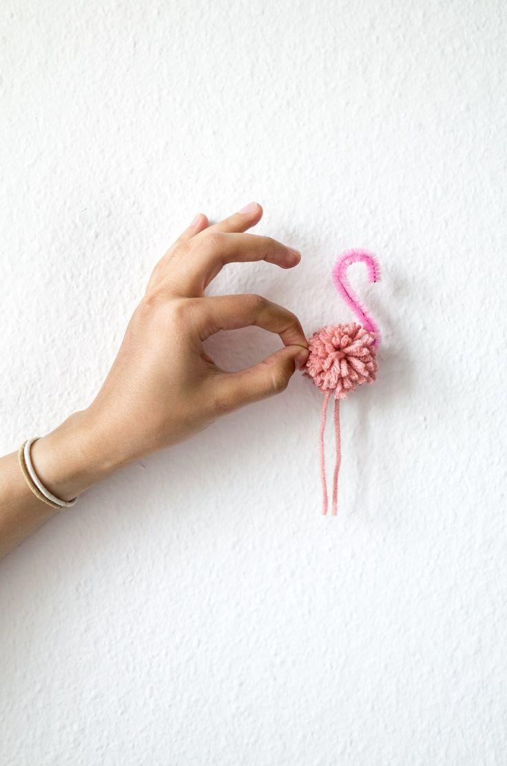 DIY pompom flamingo   Kittenhood