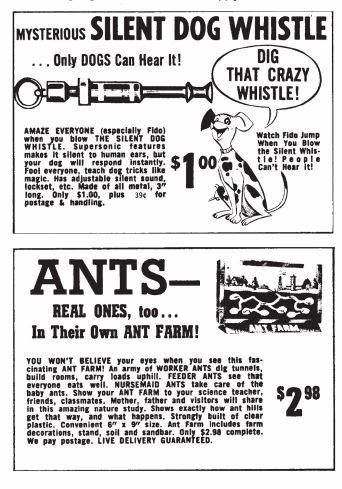 Comic Book Advertisements