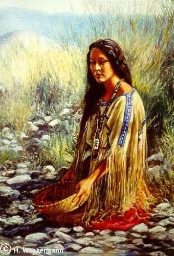 hubert wackermann paintings   native american paintings Hubert Wackermann   Ute Girl ...