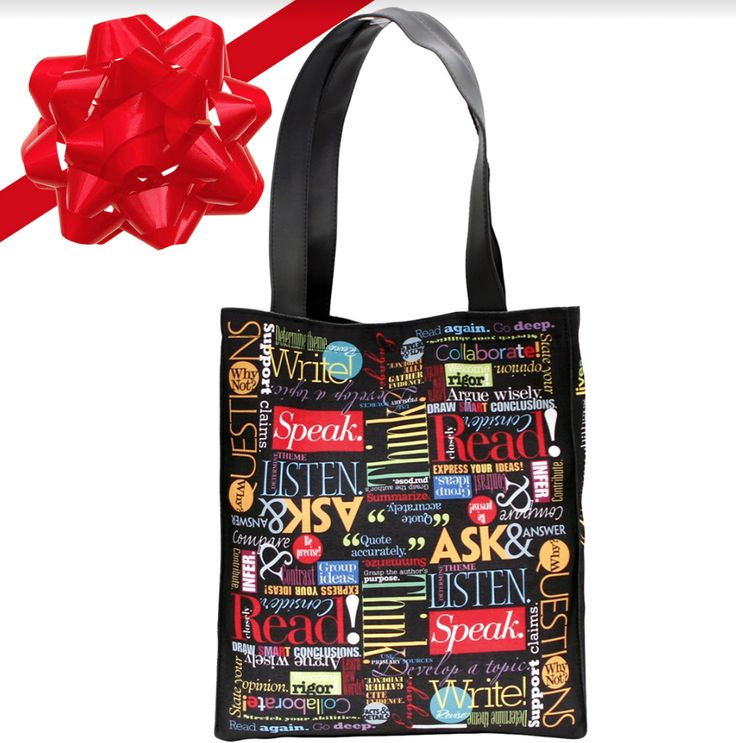 "Words to Grow By Vibrant Canvas Tote -Arrive in style with this ""Words to Grow By"" strong canvas tote bag. It's both durable and good-looking and sets the perfect literary tone."