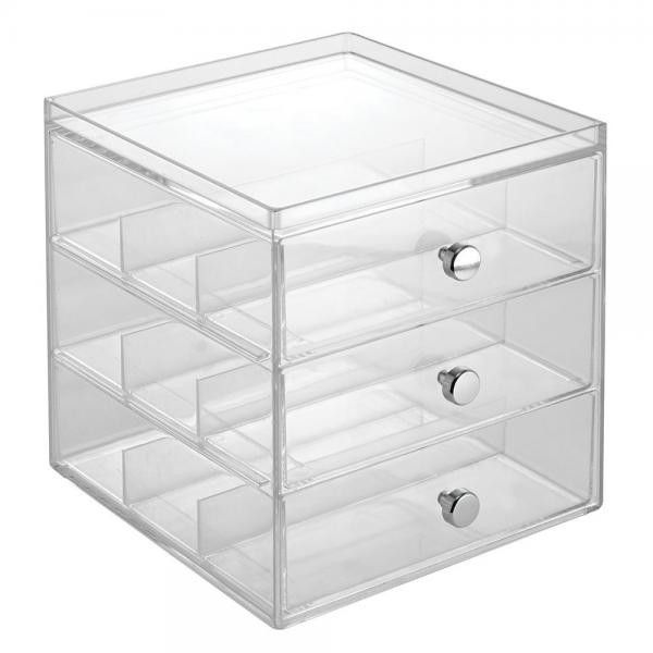Photos Of Glass Vanity Organizer Clear Drawer Dimensions W x