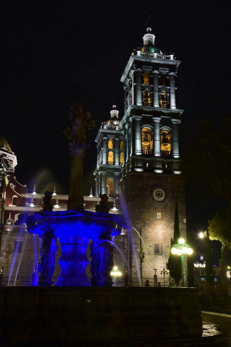 25 mejores im 225 genes de architecture vegetation en pinterest - Vista Nocturna Catedral De Puebla M X