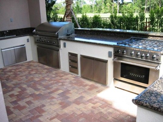 Minimalist and Cool Outdoor Barbeque Area