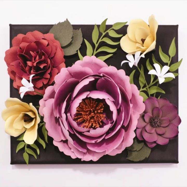This Paper Flower Canvas Is From A Workshop I Did At Crystal