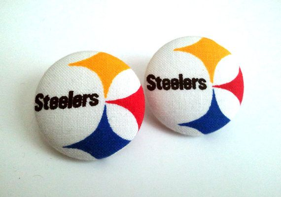Large Pittsburgh Steelers symbol and name button by ButtonUpp, $8.00