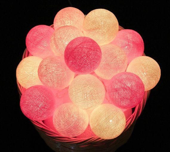 20 zoete roze Toon katoen bal LED String lichten door LivingPastel