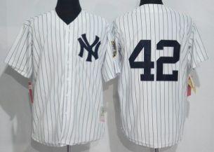 New York Yankees #42 Mariano Rivera White Throwback Jersey