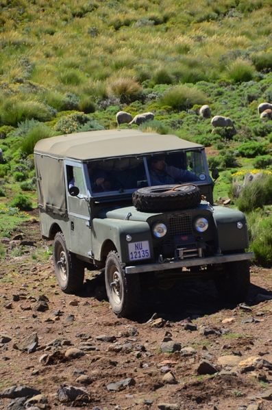 The legend that is the Land Rover Defender. Except the photo is of an early Series model!