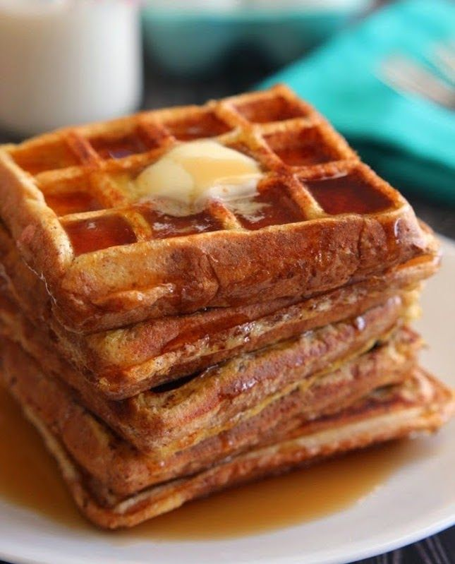 Here are some delicious waffles that I could definitely eat for breakfast, lunch, dinner and dessert. These look perfect!