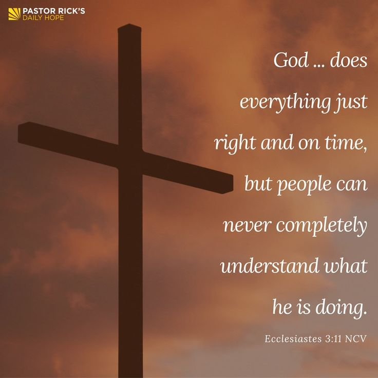 You may be in a hurry, but God is not. If you want to slow down your life, you've got to learn to trust God's timing. Learn more in this devotional from Pastor Rick's Daily Hope.