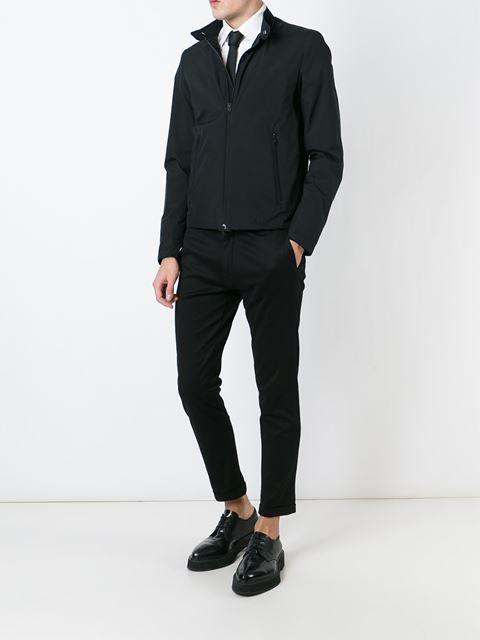Herno band collar zipped jacket