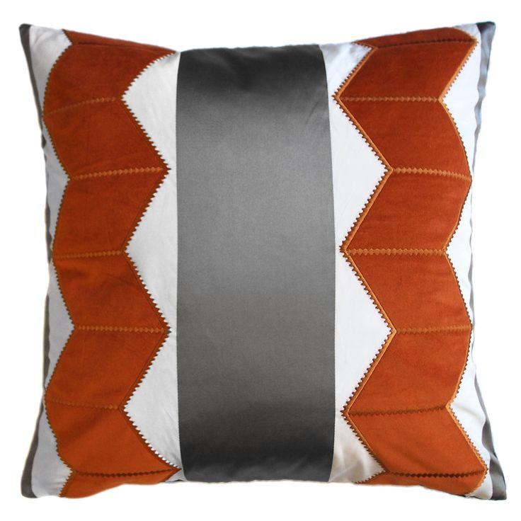 """TOP PICK by Lisa Ferguson www.lisafergusoninteriordesign.com >>Piper Collection Chloe 22x22"""" silk and velvet appliqued pillow #HPmkt"""