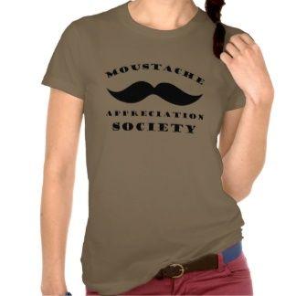 Moustache Appreciation Society Camisetas
