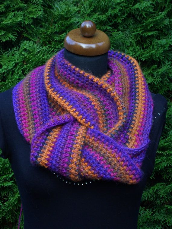 This #scarf is fine, airy and warm at the same time. Knitted from a high quality wool, a mixture of wool and polyacryl, that makes it very soft and pleasant to wear, in fine... #cowl #knit #crochet #accessories #wrap #gift #handmade #chunky #loop #neckwarmer