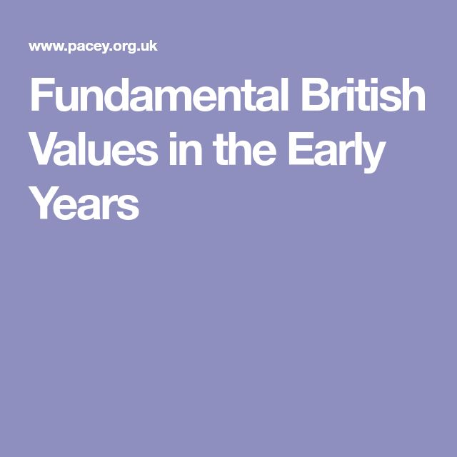 Fundamental British Values in the Early Years