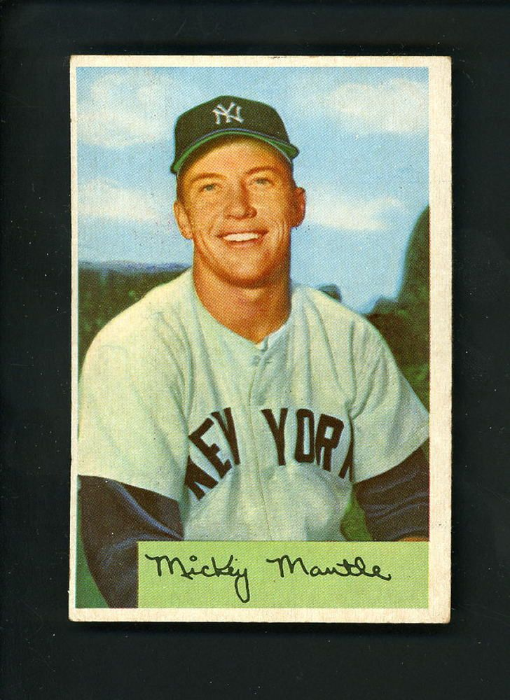 1954 Bowman Mickey Mantle Baseball Card New York Yankees