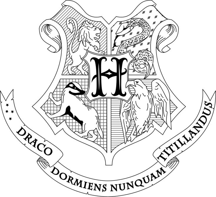 Hogwarts Crest Coloring Page