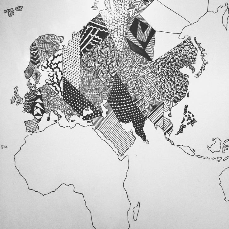 https://www.instagram.com/simonestubgaard/ Sunday ✍✍ new project in progress #drawing #art #worldmap #world #patterns #newproject #artist #simonestubgaard