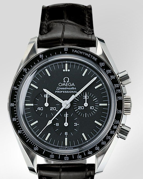 Omega Speedmaster (Moonwatch).  Yes, its ancestor was on the Moon with Neil Armstrong, Buzz Aldrin and the Other Guy.