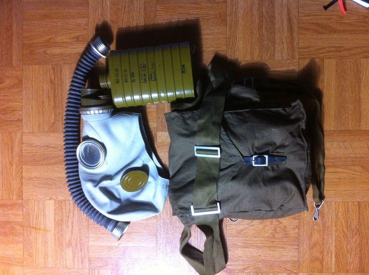 Militaria,NVA SCHUTZMASKE,TASCHE,GASMASKE,Filter,ABC SCHUTZ,DDR Gas MASKE,Latex