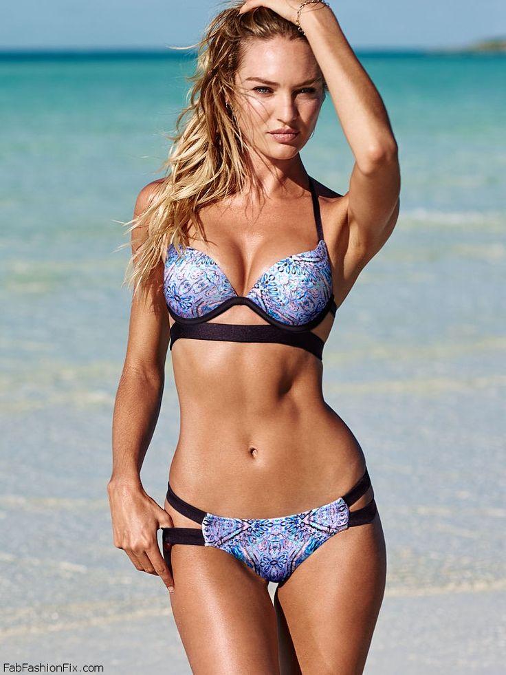 Candice Swanepoel showes off her curves for 2015 Victoria's Secret Swimwear. #vsswim