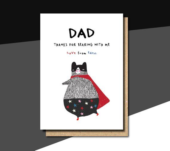 fathers day card dog, fathers day card from son, fathers day card bear, fathers ...