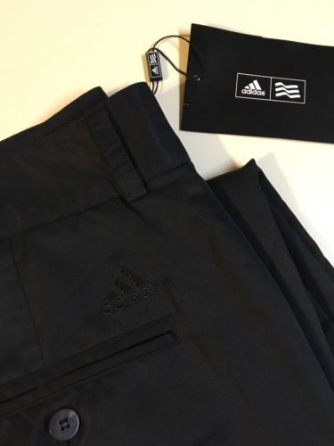 MENS ADIDAS ATHLETIC PANTS sz 32 S/ Medium Black Khakis Golf (shorts Shirt Polo