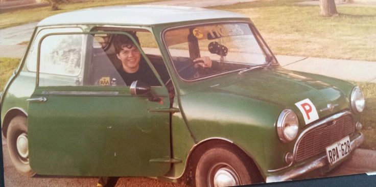 Danny's First Mini.......actually it was also his First Car ever! Whilst still in High School! and paid for all by himself from his Milk  Delivery Round job....