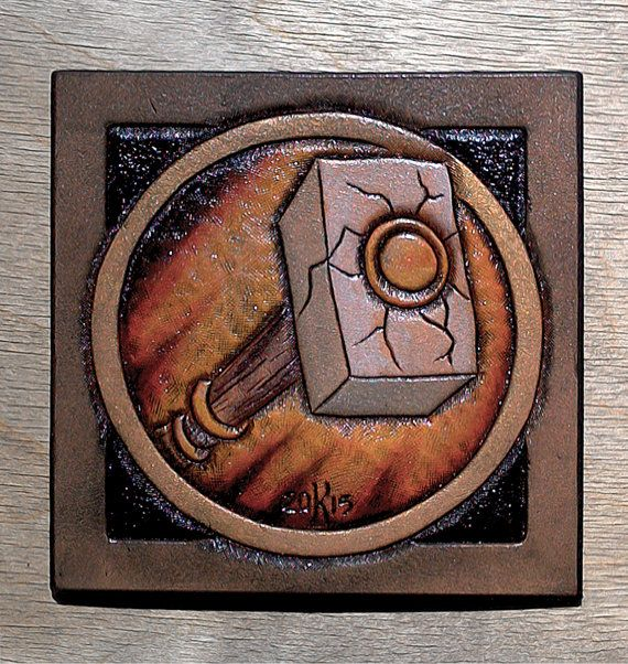 Leather coaster Paladin class crest by TimnKirasArt on Etsy