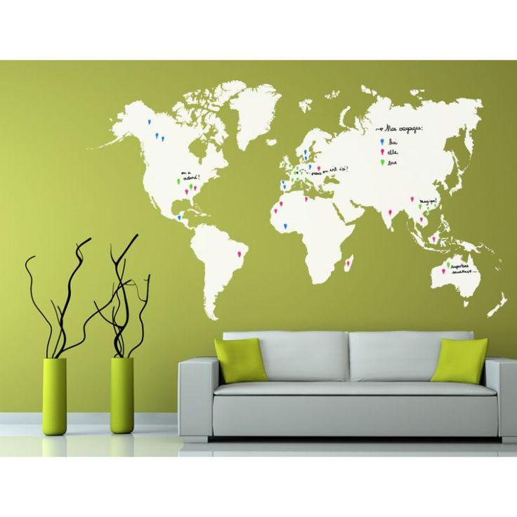 les 25 meilleures id es concernant stickers carte du monde. Black Bedroom Furniture Sets. Home Design Ideas