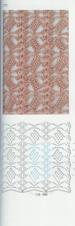 Crochet stitch  •★•Teresa Restegui http://www.pinterest.com/teretegui/•★•