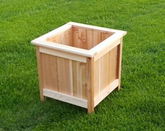 Cedar Planter Box by CraftedBySully on Etsy
