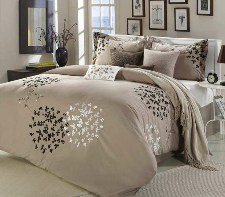 cheila taupe 8piece comforter set from size