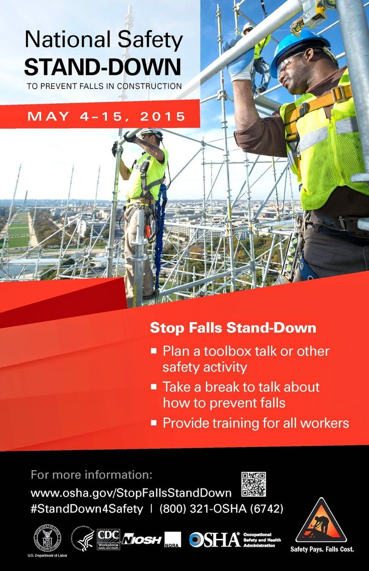 OSHA Plans Second Construction Fall Safety Stand-Down | EHS Works