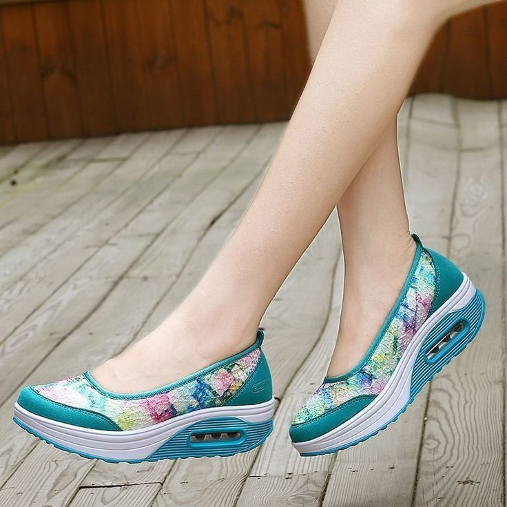 Womens Arch Support Lightweight Leather Mesh Shoes Pumps Memory Foam Shoes